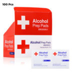 New              100PCS 3/6x6cm 75% Alcohol Formula Wipes Pads Disposable Disinfection Cleaning Wet Wipes