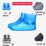 New              Women Non-slip Waterproof Reusable Outdoor High Top Shoe Covers