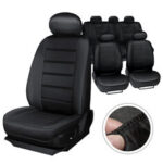 New              MECO Universal Five Seat Car Seat Covers Front Rear Head Rests Full Set Auto Seat Cover