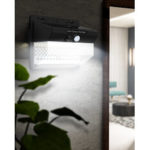 New              DIGOO DG-LT206 206LEDs Waterproof Body Induction Lamp Solor Power Outdoor Night Wall Light