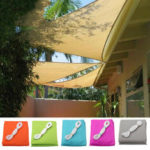 New              3x3x3m Triangle Tent Sunshade Sail Waterproof 90% UV Sun Canopy Camping Patio Garden Awning Tent Sunshade