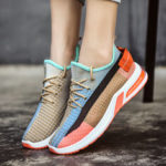 New              Women Colorful Mesh Cloth Breathable Running Sneakers