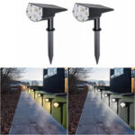 New              20LED Solar Spotlight Garden Lawn Lamp Landscape Street Light Park Yard Pathway