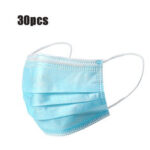 New              30Pcs Disposable Mouth Face Masks 3-layer Respirator Mask Dust-Proof Personal Protection