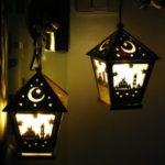 New              LED DIY House Wooden Lamp Festival Decorative Night Light Eid Mubarak Ramadan