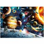 New              1000 Pieces DIY Space Traveler Scene Flat Paper Jigsaw Puzzle Decompression Educational Indoor Toys