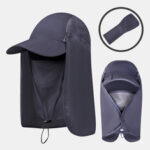 New              Foldable Sun Protection Cover Face Visor Outdoor Fishing Hat Summer Quick-drying Cap Breathable Hat Baseball Cap