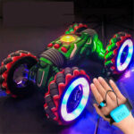 New              2.4G Gesture Sensor Twisted RC Stunt Car Light Music Remote Control Dancing Truck for Kids Toys Vehicles Model