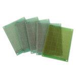 New              5pcs 5x7cm 5*7 Single Side Prototype PCB DIY Universal Printed Circuit PCB Glass Fiber Universal Board Green Oil Epoxy Protoboard