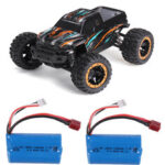 New              HBX 16889 with Two Batteries 1/16 2.4G 4WD 45km/h Brushless RC Car LED Light Off-Road Truck RTR Model