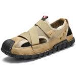 New              Men Closed Toe Comfy Non Slip Hook Loop Casual Sandals