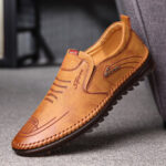 New              Men Microfiber Leather Slip Resistant Soft Sole Casual Business Loafers