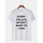 New              Mens Funny Slogan Short Sleeve Round Neck Loose T-Shirts