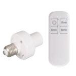 New              AC110V/220V Wireless Remote Control E27 Lamp Holder Timing Function Bulb Adapter Light Socket