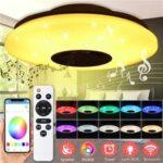 New              220V 24W LED Ceiling Lights Human Motion Sensor Voice Control Flush Mount Lamps