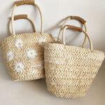 New              Women Summer Daisy Straw Handbag