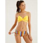New              Women Push Up Front Twisted Striped Bandage Panty Hot Bikini