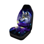 New              Universal Car Seat Cover Front Seat Back Head Rest Protector Van Truck WolfPrint