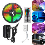 New              5M RGB 5050 Waterproof LED Strip Light SMD With 44 Key Remote Controller