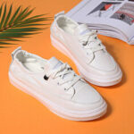 New              Women Casual Comfy Soft Sole White Court Sneakers