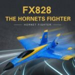New              Flybear FX828 Hornet Fighter 290mm Wingspan 2.4GHz 2CH EPP RC Airplane Warbird RTF