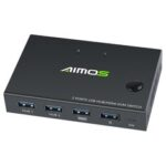 New              AIMOS USB HDMI Switch Box Video Switch Display 4K Splitter KVM Switch for 2 PCs Share Switcher Keyboard Mouse Printer Plug and Play