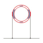 New              Gemfan AC-TZ02 78x78cm Single Round FPV Cube Race Gate w/ Holder for RC Drone Outdoor Indoor Racing Flying