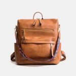 New              Women Multi-Carry Solid Vintage Backpack Shoulder Bag