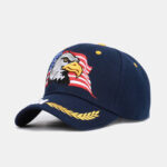 New              Men Unisex Outdoor Baseball Cap USA Eagle Embroidery Cotton Breathable Visor Cap