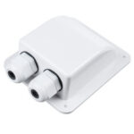New              Double Roof Cable Entry Gland Box Solar Panel For RV Caravan Boat Van White