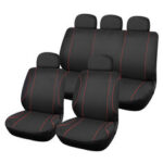 New              9PCS Fabric Universal Car Seat Covers Full Set Protectors Cushion Front Rear