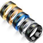 New              Bakeey Multifunctional Watch Partner Temperature Sense Intelligent Titanium Steel Smart Ring Changing Color Temperature Ring