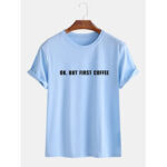 New              Mens Loose Slogan Casual Short Sleeve Round Neck T-Shirts