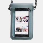 New              Women 6.3 Inch Touch Screen Chain Casual Phone Bag Crossbody Bag Shoulder Bag