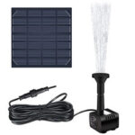 New              1.2W 180L/H Brushless Solar Panel Fountain Water Pump for Garden Pool Pond Aquarium Fountain