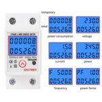 New              SINOTIMER DDS6619-526L-2 230V  Reset and Reset Backlight Display Single-phase Rail Multi-function Energy Meter