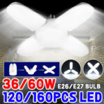 New              AC85-265V E27/E26 36W 60W LED Bulb Deformable Garage Lamp Foldable Ceiling Light for Home Indoor Use