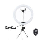 New              10 inch LED Ring Light 3 Modes 10 Brightness Adjustable bluetooth Selfie Ring Light Photography Beauty Light for Youtube Live Streaming