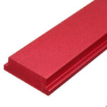New              Red 100-450mm Aluminum Alloy Miter Track Nut Slider Miter Bar Quick Acting Clamp Nut for Table Saw T Slot T-track Jig Fixture DIY Woodworking Tool
