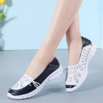 New              Women Stricing Flowers Hollow Sports Non Slip Casual Loafers