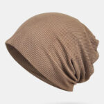 New              Thin Beanie Hat Solid Color Mesh Breathable HairBand Scarf Multifunctional