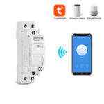 New              SINOTIMER TM609 Home Smart 18mm 1P WiFi Remote APP Control Circuit Breaker Timing Switch Staircase Timer Din Rail Universal 110V 220V AC Input