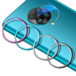 New              Bakeey Anti-scratch Aluminum Metal Circle Ring + Tempered Glass Rear Phone Lens Protector for Xiaomi Poco F2 Pro / Xiaomi Redmi K30 Pro