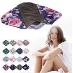 New              6PCS Pack Cloth Pads 5PCS 8 Inch Bamboo Charcoal Cloth Menstrual Pads/Reusable Sanitary Pads Mama Panty Liners