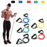 New              1Pc 10/15/20/25/30lb Fitness Resistance Bands Fitness Elastic Bands Training Yoga Pilates Bands