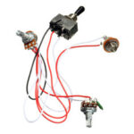 New              Electric Guitar Wiring Harness Kit 3 Way Toggle Switch 2 Volume 1 Tone 500K