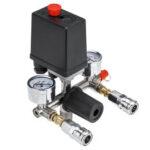 New              220V Air Compressor Pressure Switch Control Valve Manifold Regulator Gauges