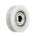 New              2Pcs 5x24x7mm U Notch Nylon Round Pulley Wheel Roller For 3.8mm Rope Ball Bearing