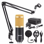 New              BM800 Microphone Condenser Sound Recording Microphone With Shock Mount For Radio Braodcasting Singing Recording KTV Karaoke Mic
