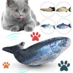 New              USB Charging Electronic Plush Cat Toys Imulation Fish Jumping Fish for Pet Interaction